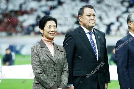 Stock Picture of (L to R) Princess Hisako Takamado, Kozo Tashima (JPN)