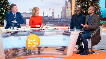 Darren Lewis and Clarke Carlisle with Piers Morgan, Kate Garraway