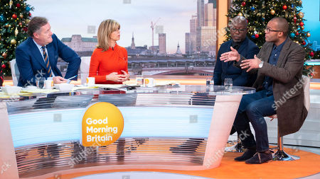 Stock Picture of Darren Lewis and Clarke Carlisle with Piers Morgan, Kate Garraway