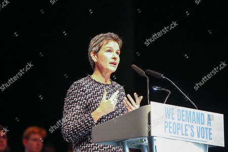 Stock Photo of MP Mary Creagh is seen speaking during the rally.