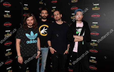 Stock Photo of Chris Wood, Kyle J Simmons, Will Farquarson, and Dan Smith of Bastille