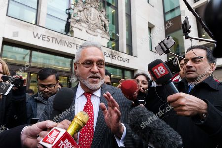 Entrepreneur, Vijay Mallya leaves Westminster Magistrates Court after a judge ruled that he should be extradited to India in connection with allegations of fraud.