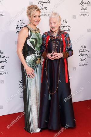Nadja Swarovski and Vivienne Westwood