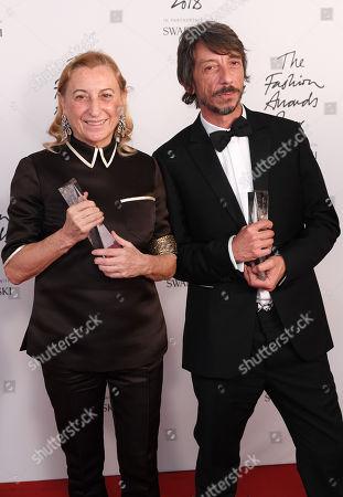 Miuccia Prada and Pierpaolo Piccioli
