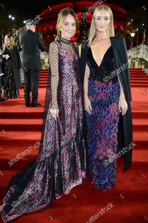 Alison Loehnis and Rosie Huntington-Whiteley