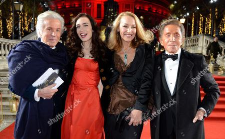 Giancarlo Giammetti, Elizabeth Jagger, Jerry Hall and Valentino