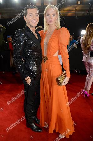 Stock Photo of Evangelo Bousis and Caroline Weinberg