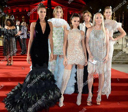 Cindy Bruna, Josephine Skriver, Gabrielle Caunesil, Celia Kritharioti and Ana Beatriz Barros