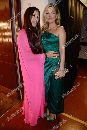Elizabeth Saltzman and Kate Moss
