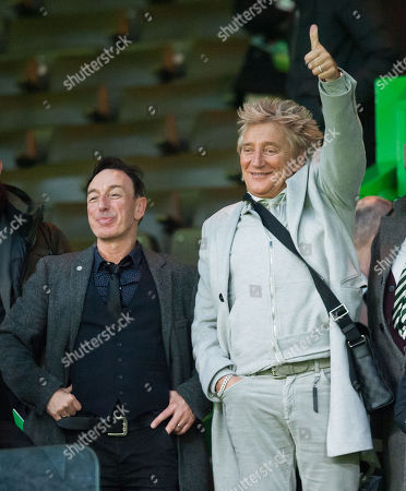 Music Producer John McLaughlin with Singer Rod Stewart watched Celtic beat Kilmarnock 5-1