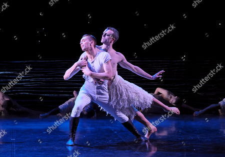 Matthew Ball as The Swan and Liam Mower as The Prince