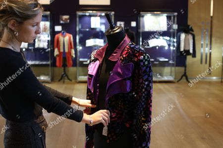 Stock Photo of Multi coloured velvet jacket owned by Marc Bolan
