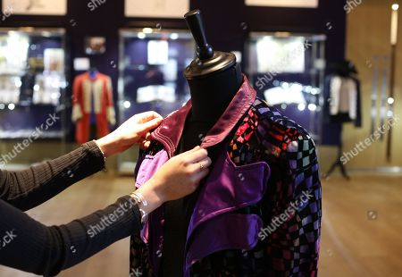Stock Image of Multi coloured velvet jacket owned by Marc Bolan