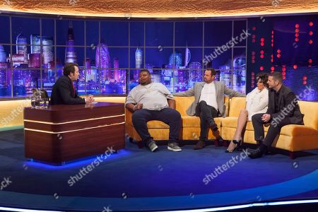 Stock Image of Jonathan Ross, Big Narstie, Danny Dyer, Joan Collins and Kevin Bridges