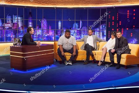 Stock Photo of Jonathan Ross, Big Narstie, Danny Dyer, Joan Collins and Kevin Bridges