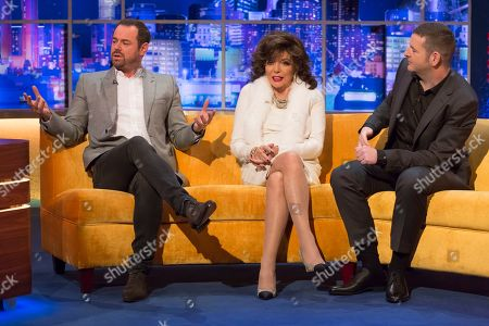 Danny Dyer, Joan Collins and Kevin Bridges