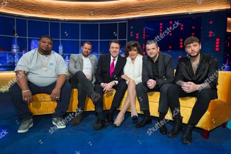 Stock Picture of Big Narstie, Danny Dyer, Jonathan Ross, Joan Collins, Kevin Bridges and James Arthur