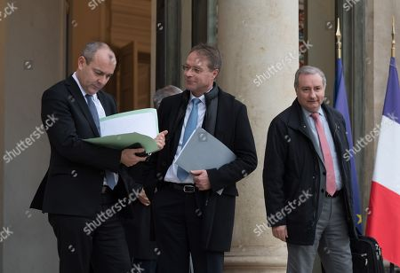 Laurent Berger (CFDT), Francois Asselin (CPME) and Jean -Luc Moudenc