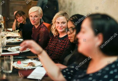 Rashida Jones, Cecile Richards, Amy Poehler, Susan Burton and Wendy Carrillo