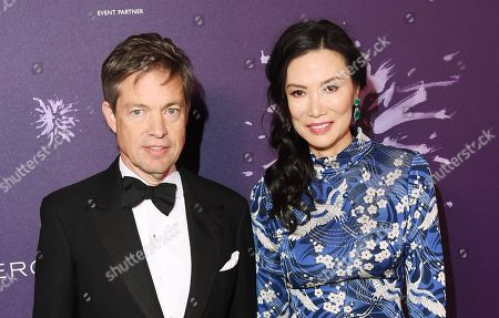 Stock Photo of Nicolas Berggruen and Wendi Deng Murdoch