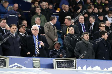 Everton chairman Bill Kenwright with Watford owner Gino Pozzo in the directors box before kick-off