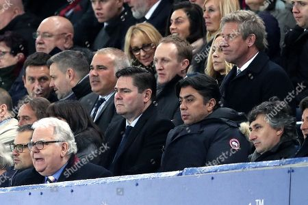 Agent Kia Joorabchian sits in the directors box behind majority shareholder Bill Kenwright