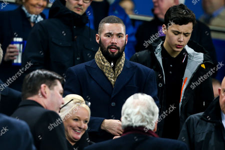 Boxer and Everton fan Tony Bellew attends Everton v Watford