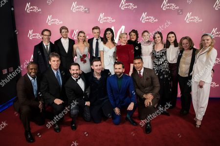 Stock Picture of Adrian Lester, Tim Bevan, Martin Compston, James McArdle, David Tennant, Ismael Cruz Cordova, Guy Pearce, Joe Alwyn, Margot Robbie, Jack Lowden, Gemma Chan, director Josie Rourke, Izuka Hoyle, Saoirse Ronan, Eileen O'Higgins, Liah O'Prey, Debra Hayward. Adrian Lester, producer Tim Bevan, Martin Compston, James McArdle, David Tennant, Ismael Cruz Cordova, Guy Pearce, Joe Alwyn, Margot Robbie, Jack Lowden, Gemma Chan, director Josie Rourke, Izuka Hoyle, Saoirse Ronan, Eileen O'Higgins, Liah O'Prey, producer Debra Hayward and Maria-Victoria Dragus pose for photographers upon arrival at the premiere of the film 'Mary Queen of Scots', in London