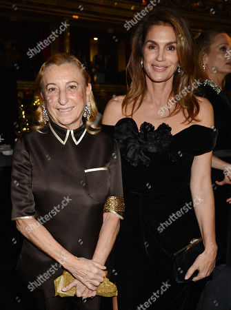 Miuccia Prada and Cindy Crawford