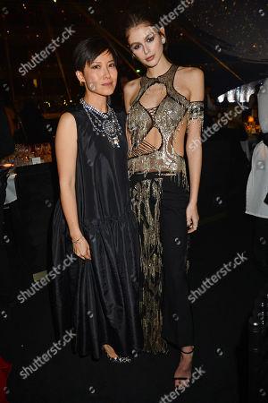 Sandra Choi and Kaia Gerber