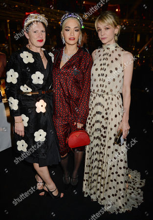 Katie Grand, Rita Ora and Carey Mulligan