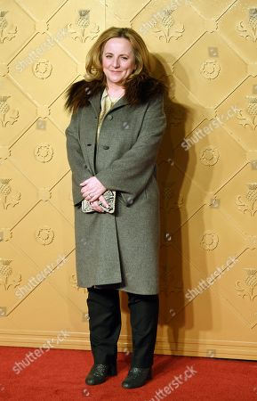 Producer Debra Hayward arrives at the European premiere of 'Mary Queen of Scots' in Leicester square