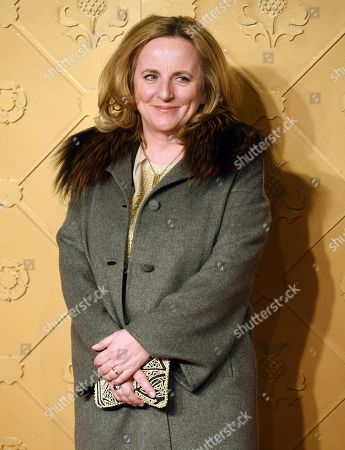 Stock Image of Producer Debra Hayward arrives at the European premiere of 'Mary Queen of Scots' in Leicester square