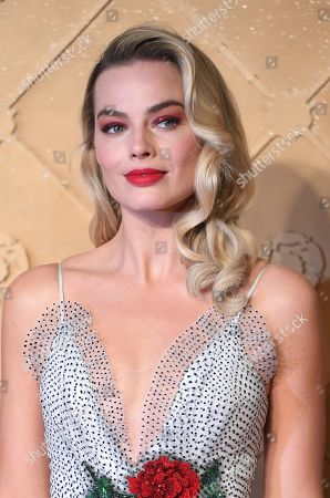 Margot Robbie arrives at the European premiere of 'Mary Queen of Scots' in Leicester square in London, Britain, 10 December 2018.