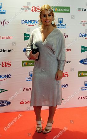 Spanish Weightlifting World Champion Lidia Valentin poses upon arrival to Spanish sports newspaper 'AS' award ceremony in Madrid, Spain, 10 December 2018.