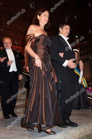 Cecilia Malmstrom, European Commissioner, Andre Geim, Laureate in Physics 2010