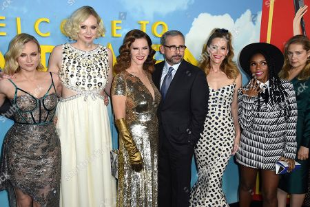 Stock Picture of Diane Kruger, Gwendoline Christie, Leslie Zemeckis, Steve Carell, Leslie Mann, Janelle Monae, Merritt Wever