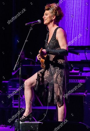 "Amanda Palmer performs at Cyndi Lauper's 8th Annual ""Home for the Holidays"" benefit concert at the Beacon Theatre, in New York"