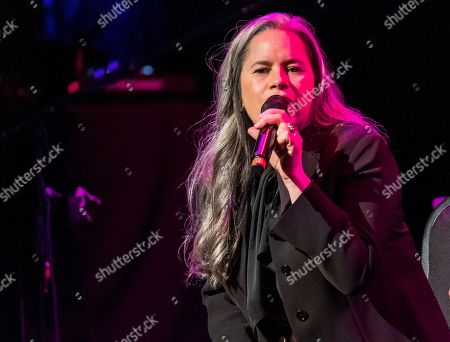 """Stock Image of Natalie Merchant performs at Cyndi Lauper's 8th Annual """"Home for the Holidays"""" benefit concert at the Beacon Theatre, in New York"""