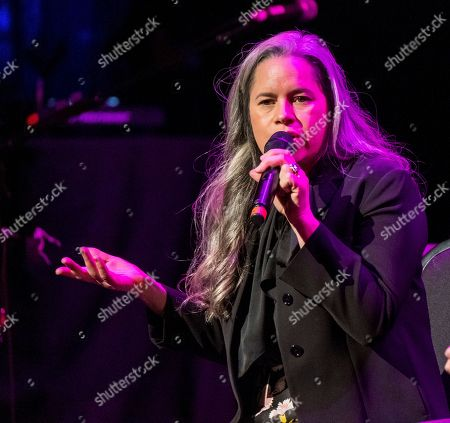 """Natalie Merchant performs at Cyndi Lauper's 8th Annual """"Home for the Holidays"""" benefit concert at the Beacon Theatre, in New York"""