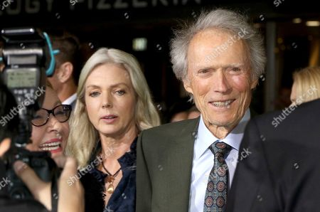 """Clint Eastwood, Christina Sandera. Director/actor Clint Eastwood, from right, Christina Sandera and actress Dianne Wiest arrive at the world premiere of """"The Mule"""", at the Westwood Regency Village Theatre in Los Angeles"""