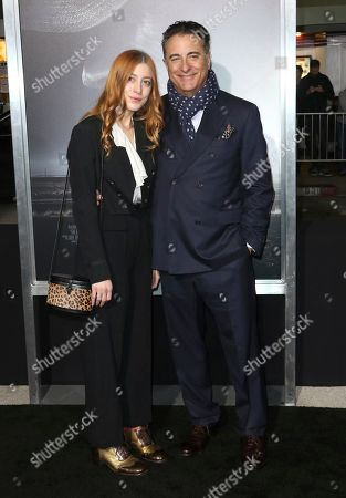 "Daniella Garcia, Andy Garcia. Daniella Garcia, left, and her father Andy Garcia arrive at the world premiere of ""The Mule"", at the Westwood Regency Village Theatre in Los Angeles"
