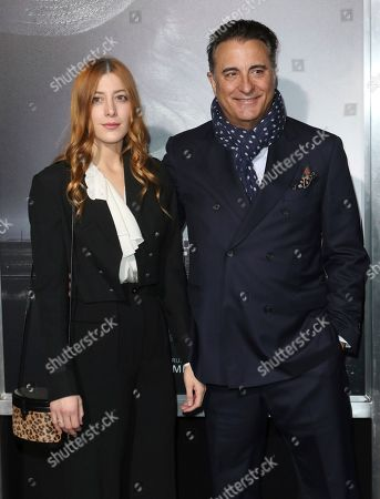 "Stock Photo of Daniella Garcia, Andy Garcia. Daniella Garcia, left, and her father Andy Garcia arrive at the world premiere of ""The Mule"", at the Westwood Regency Village Theatre in Los Angeles"