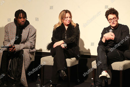 Shameik Moore, Christina Steinberg and Phil Lord