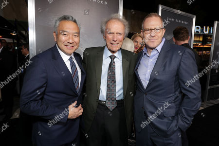 Kevin Tsujihara, Chairman and Chief Executive Officer of Warner Bros., Clint Eastwood, Director/Producer/Actor, Toby Emmerich, Chairman of Warner Bros. Pictures Group,