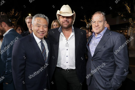 Kevin Tsujihara, Chairman and Chief Executive Officer of Warner Bros., Toby Keith, Toby Emmerich, Chairman of Warner Bros. Pictures Group,