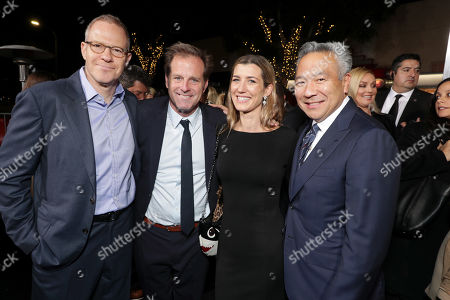 Toby Emmerich, Chairman of Warner Bros. Pictures Group, Bradley Thomas, Producer, Hillary Thomas, Kevin Tsujihara, Chairman and Chief Executive Officer of Warner Bros.,