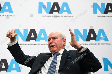 Former Prime Minister of Australia John Howard speaks during event organized by the National Archives of Australia, where the Cabinet papers of the Howard government from 1996 and 1997 were released, in Canberra, Australia, 11 December 2018.