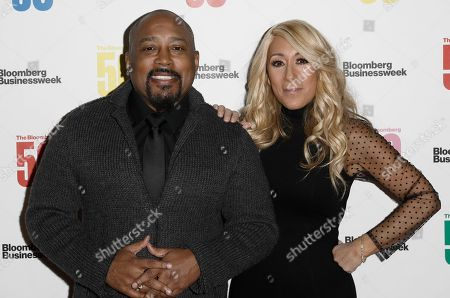 United States entrepreneur and television personality's Daymond John (L) and United States entrepreneur and television personality Lori Greiner attend 'The Bloomberg 50' Celebration at Cipriani in New York, New York, United StatesA, 10 December 2018.
