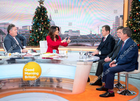 Piers Morgan and Susanna Reid with Alastair Campbell, Dominic Grieve and Nigel Farage
